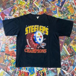 VTG   Steelers 1995 AFC Champions Tee   Mens XL
